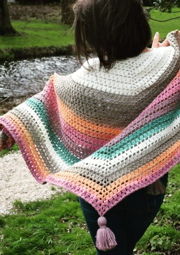 "Crochet wrap ""Karly"" easy pattern for lazy days"