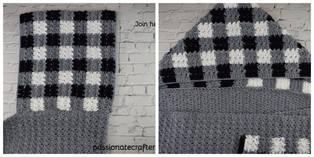 HOW TO ATTACH CROCHET HOODIE TO SCARF