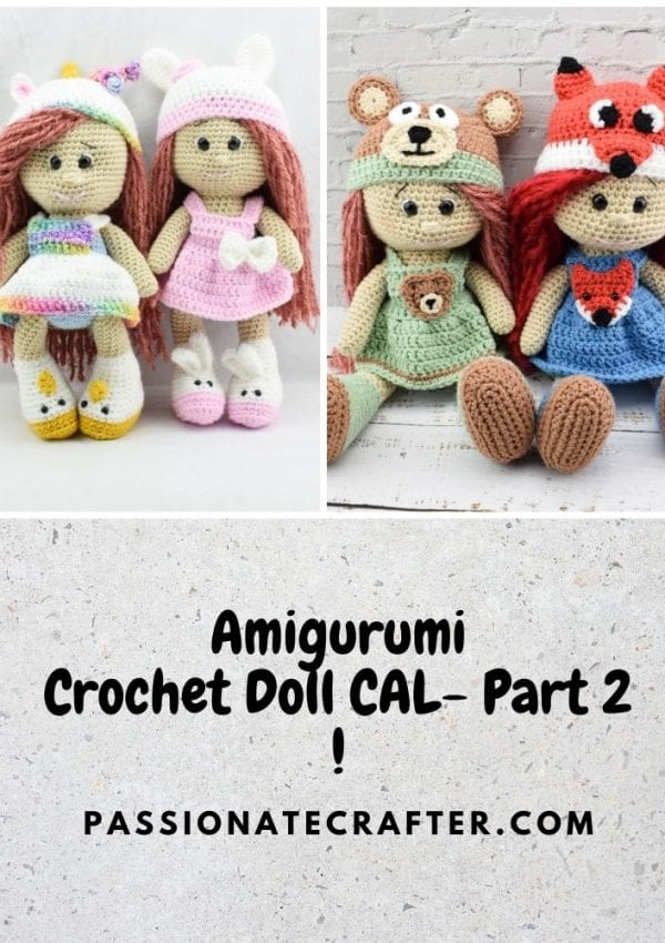 Amigurumi crochet doll CAL-crochet along-Part 2