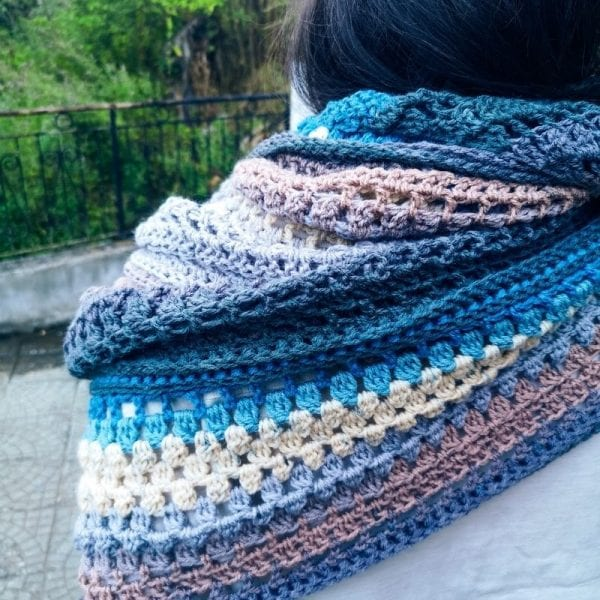 Midnight Sky – free crochet shawl pattern
