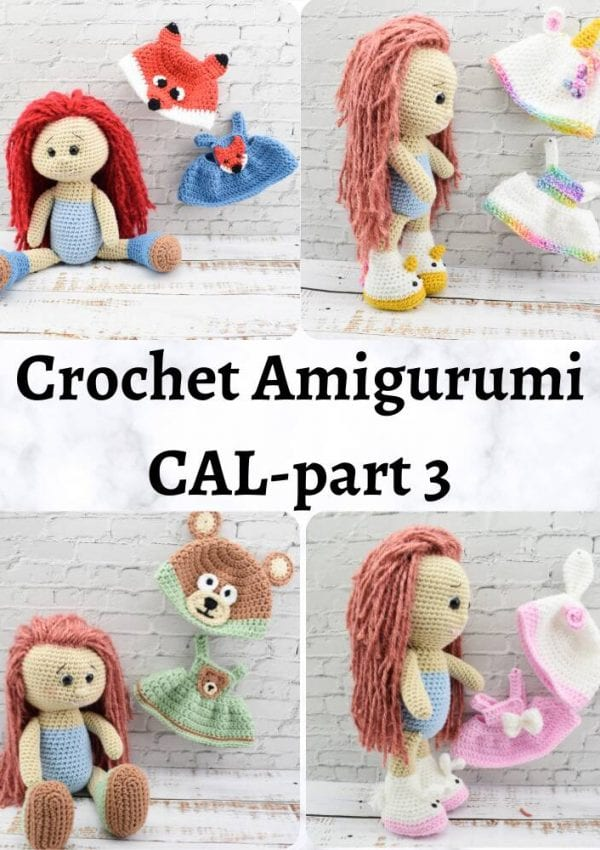Amigurumi crochet doll CAL-crochet along-Part 3