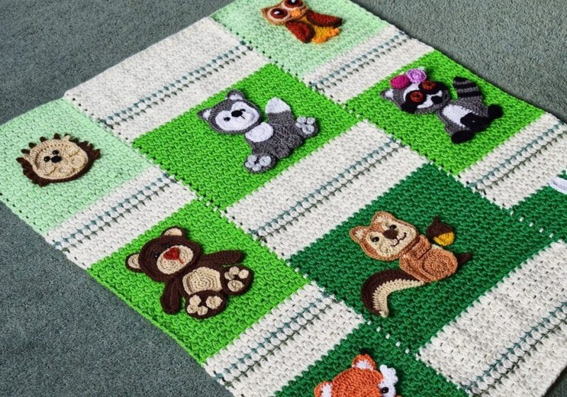forest animal appliques free crochet pattern